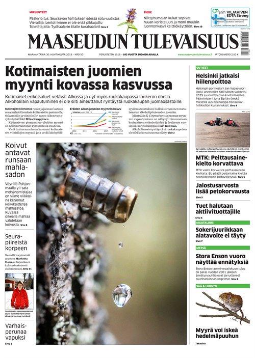 maaseudun tulevaisuus -lehti tarjous ja tilaajalahja