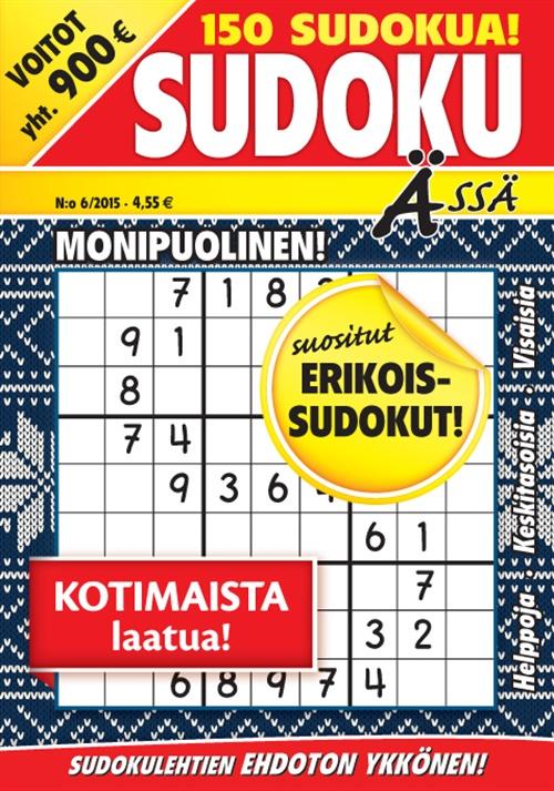 sudoku ässä -lehti tarjous ja tilaajalahja