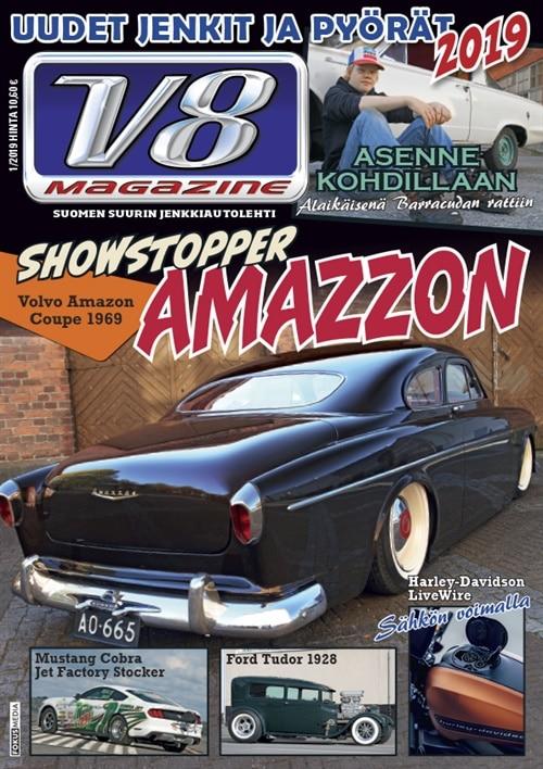 v8 magazine -lehti tarjous ja tilaajalahja